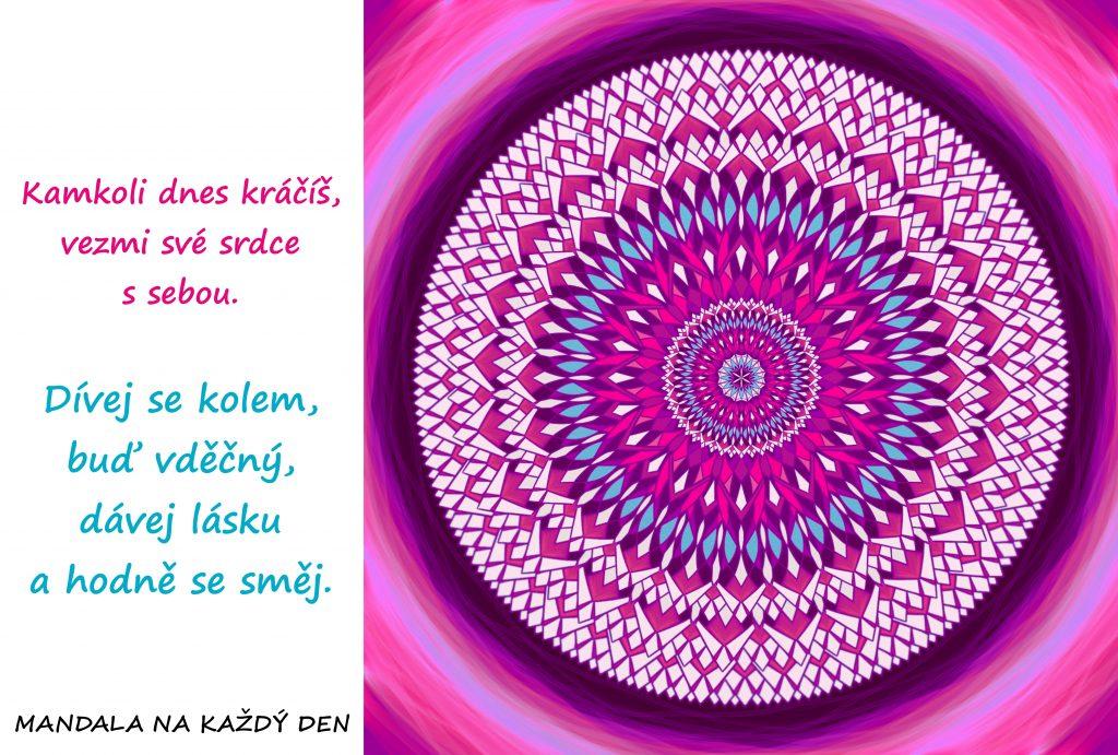 Mandala Vezmi své srdce s sebou