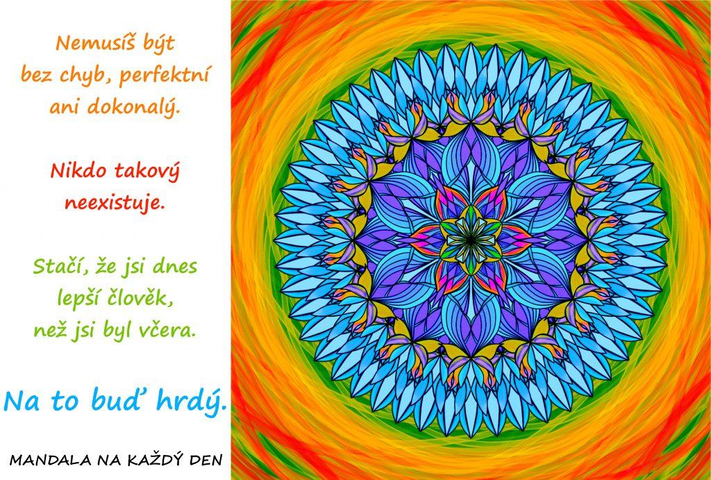 Mandala Buď na sebe hrdý