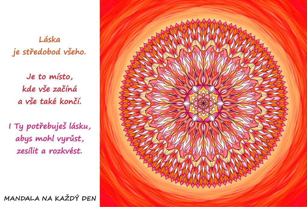 Mandala Láska je ten středobod
