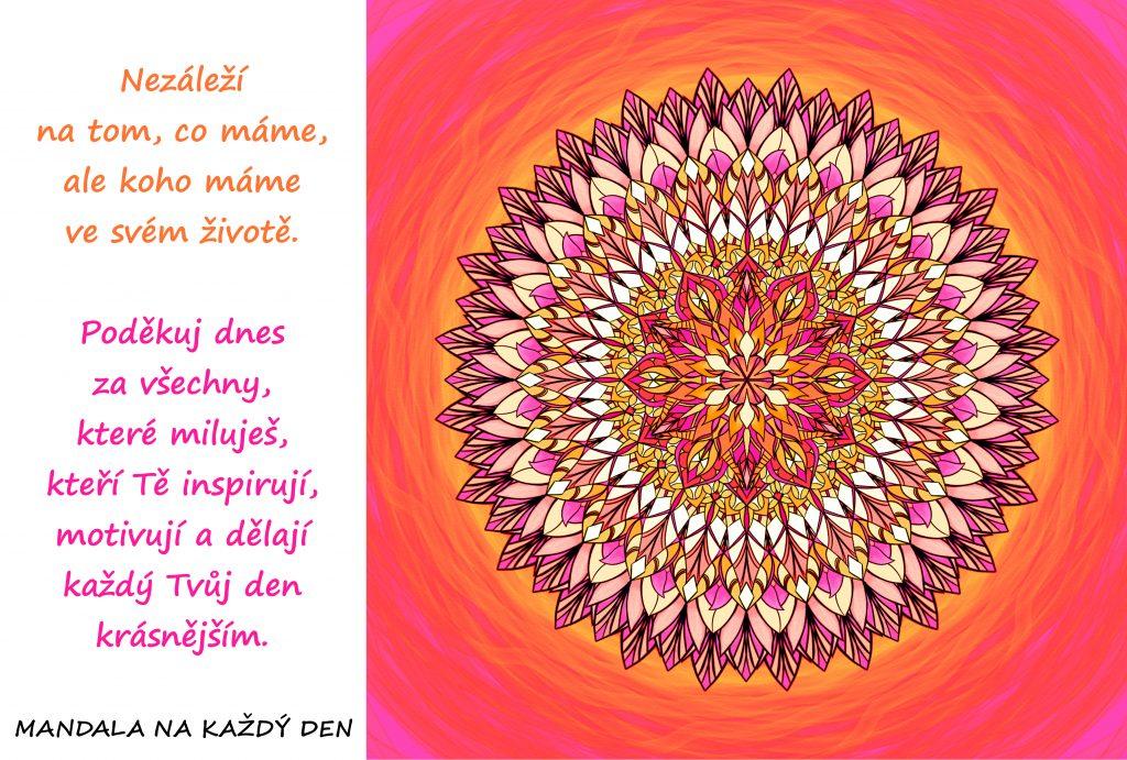 Mandala Poděkuj dnes za lásku