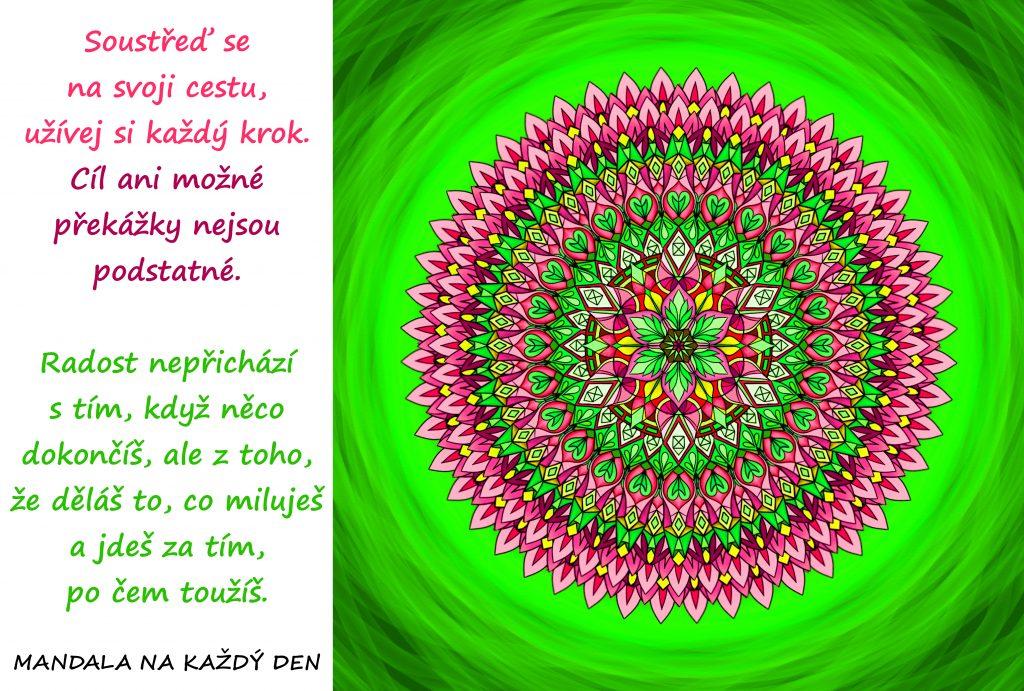Mandala Užívej si cestu, nejen cíl
