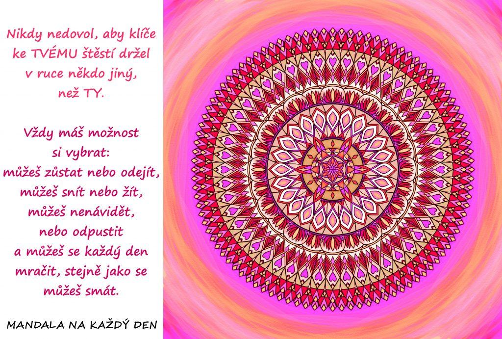 Mandala Ponech si klíče ke svému štěstí