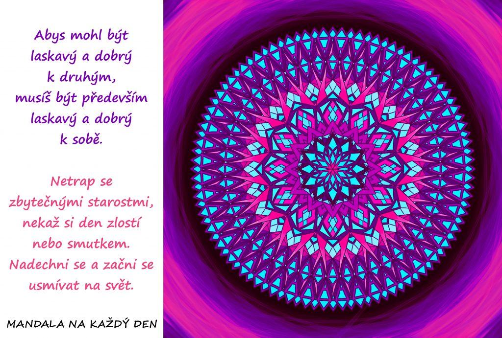 Mandala Buď k sobě laskavý a dobrý