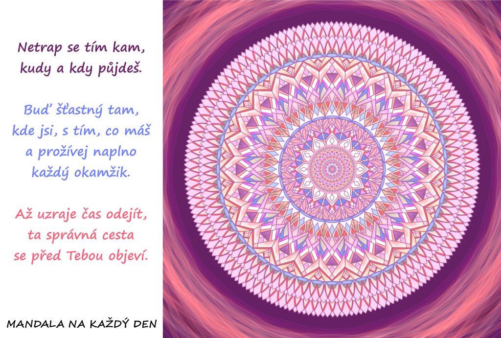 Mandala Důvěřuj správnosti své cesty