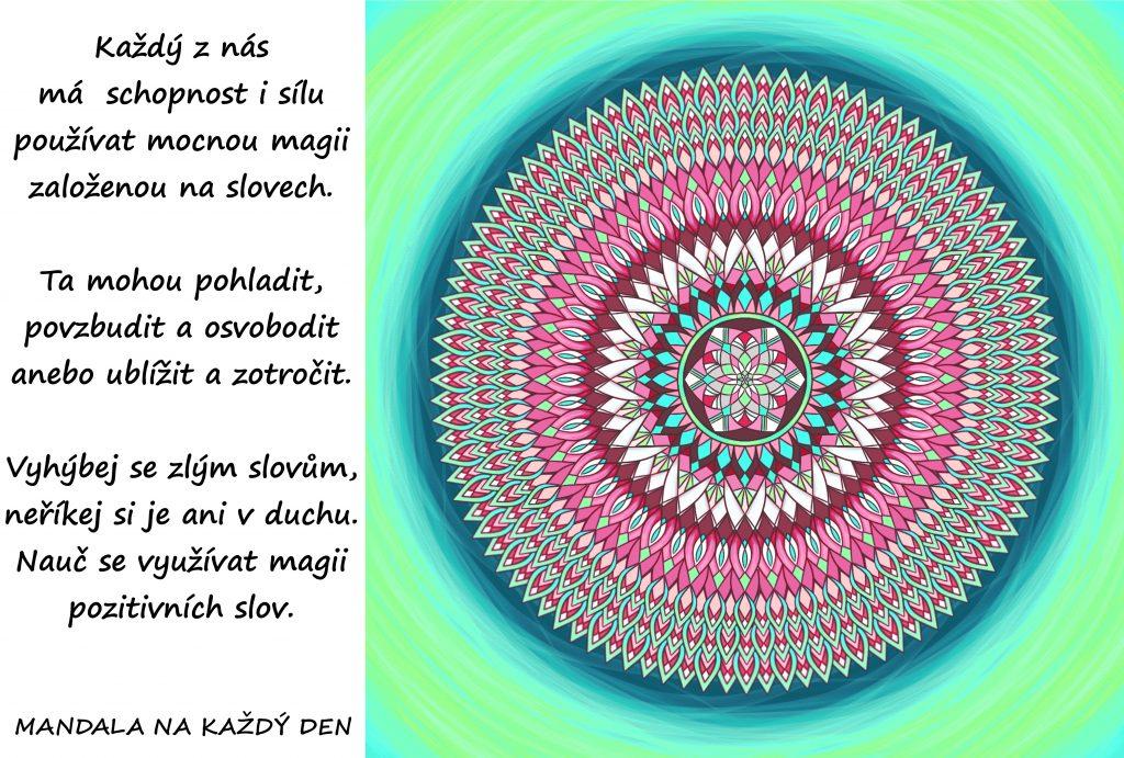 Mandala Magie pozitivní slov