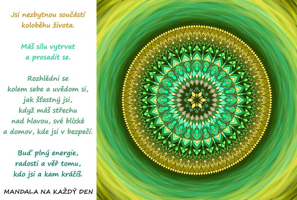 Mandala Uvědomuj si své štěstí