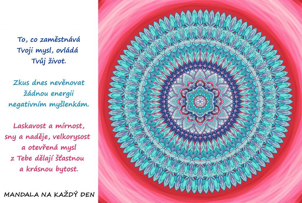 Mandala Věnuj se pozitivním myšlenkám