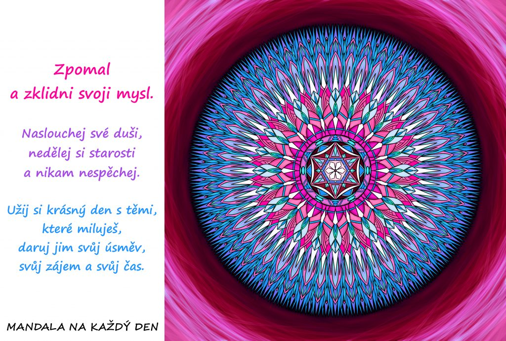 Mandala Zpomal a žij přítomností