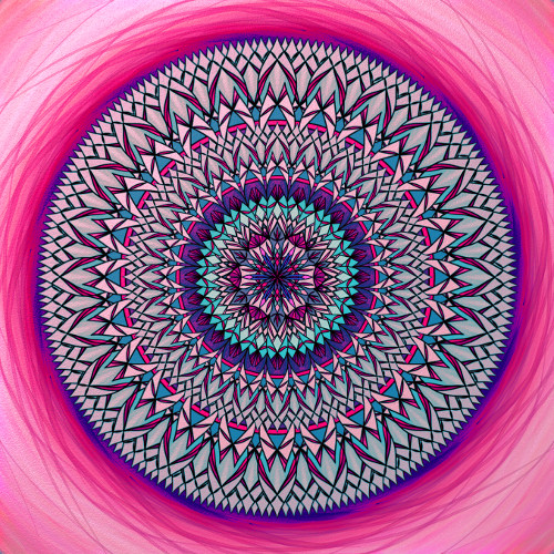 Mandala Najdi sám sebe, svůj klid i štěstí