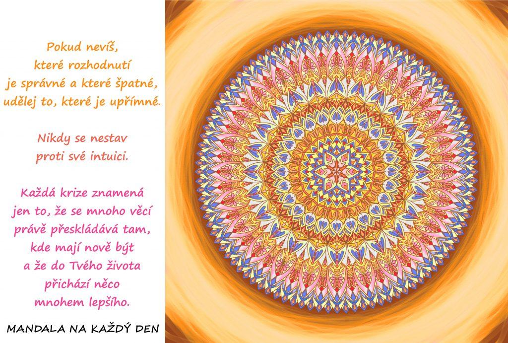 Mandala Nestav se proti svým pocitům