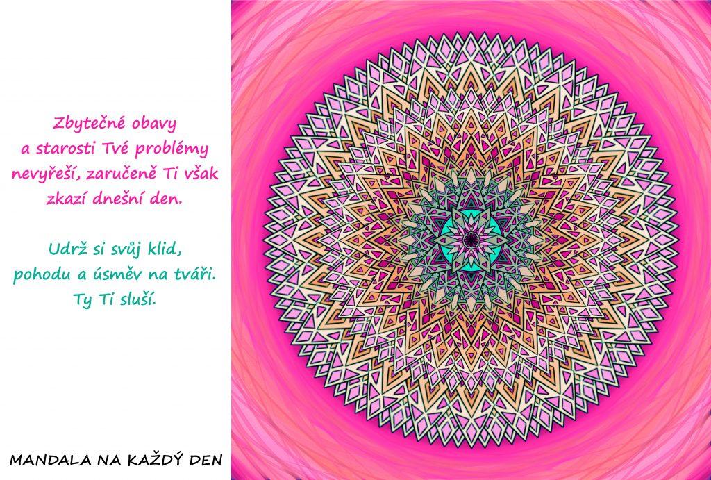 Mandala Nedělej si zbytečné obavy