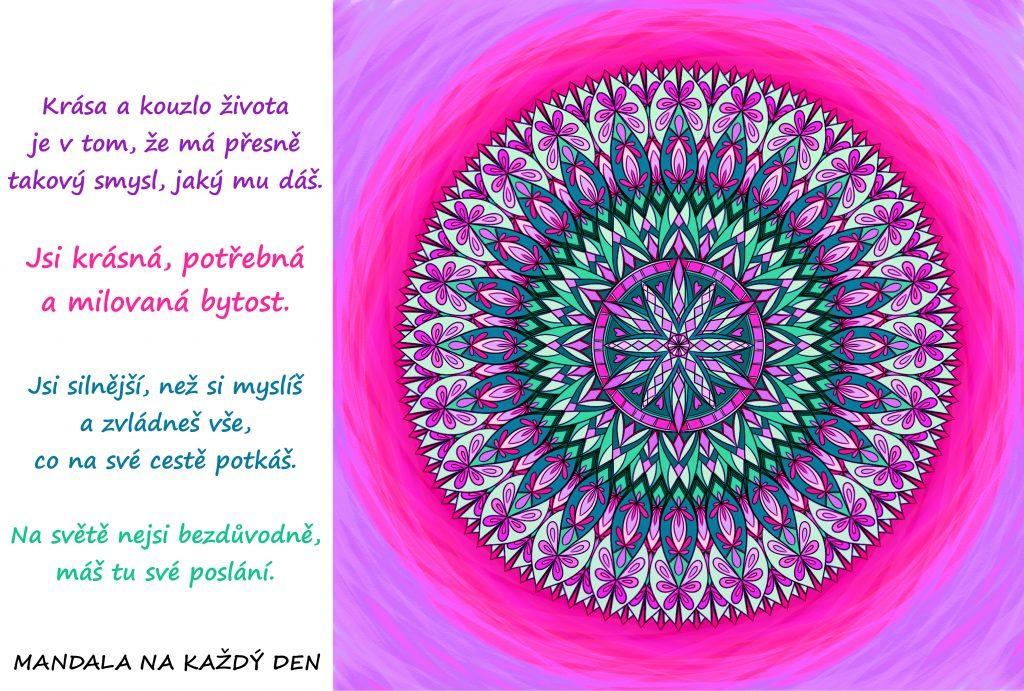 Mandala Krása a kouzlo života