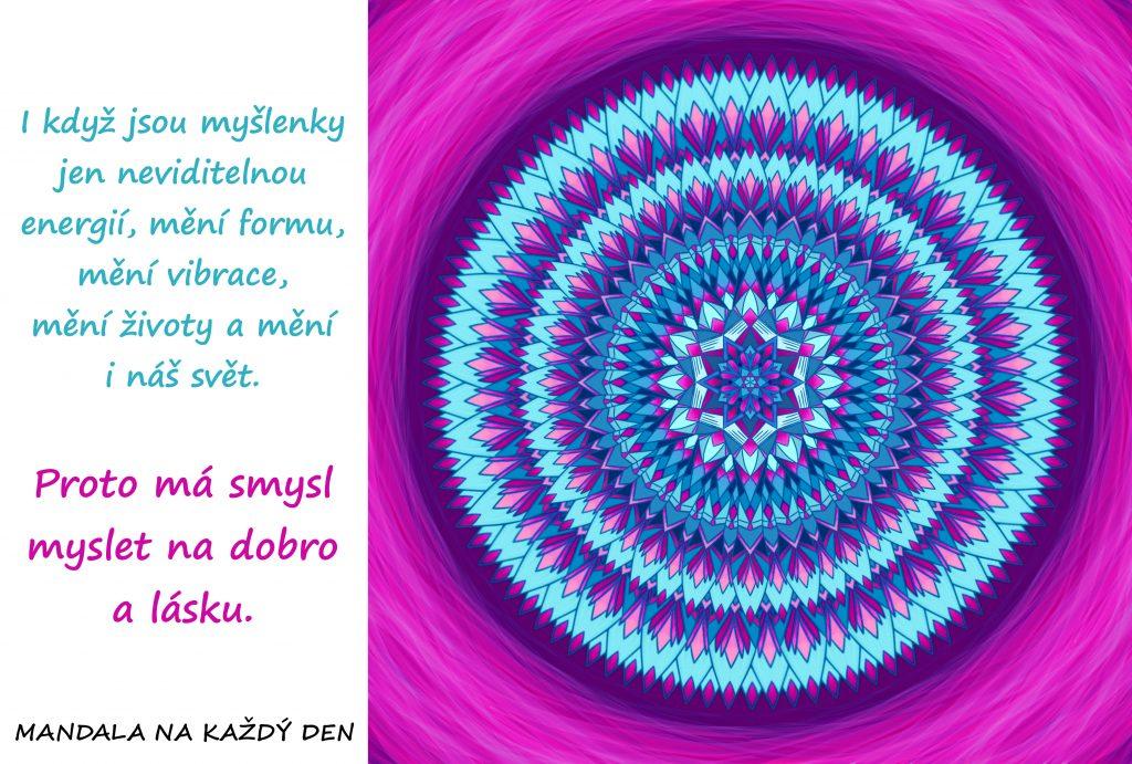 Mandala Měj v mysli dobro a lásku