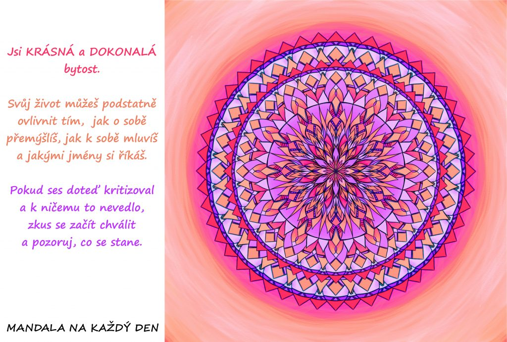 Mandala Zkus se začít chválit