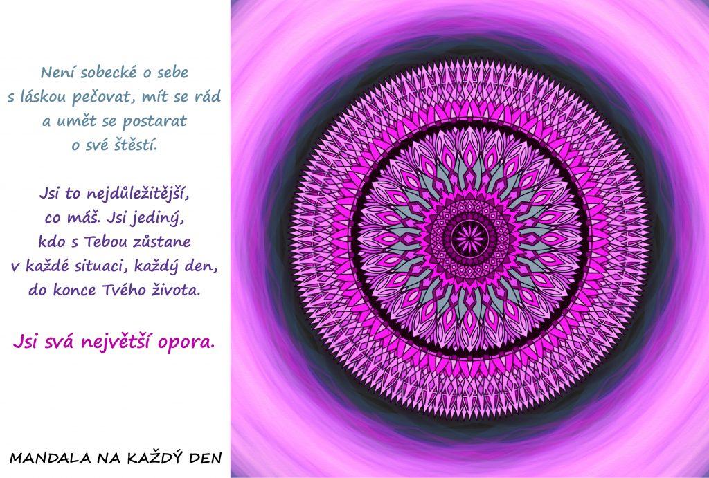 Mandala S láskou o sebe pečuj