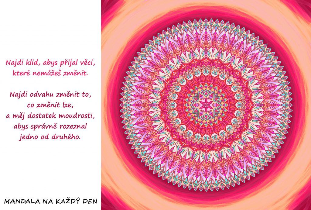 Mandala Klid, odvaha a moudrost