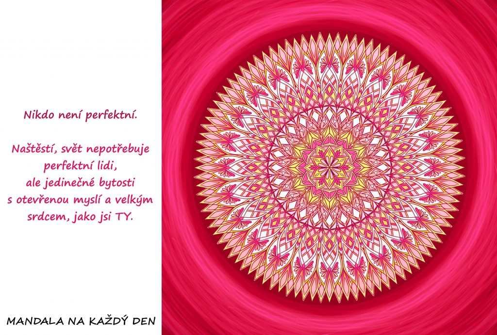 Mandala Nepotřebuješ být perfektní