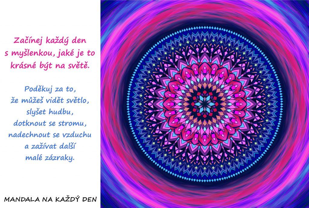 Mandala Buď každé ráno vděčný