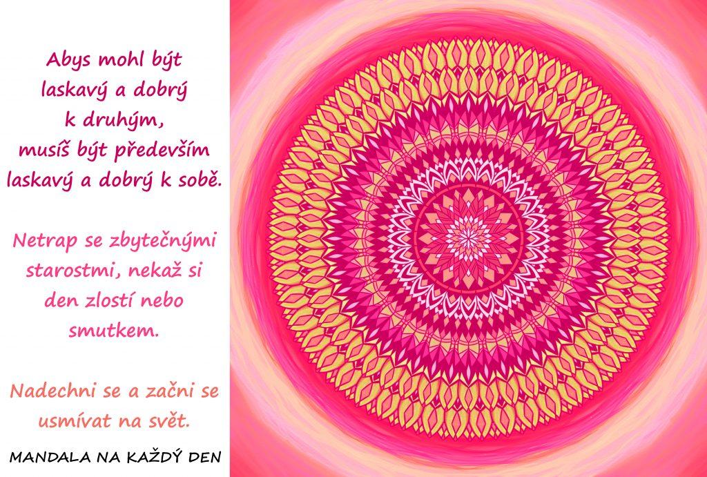 Mandala Buď k sobě dobrý a laskavý