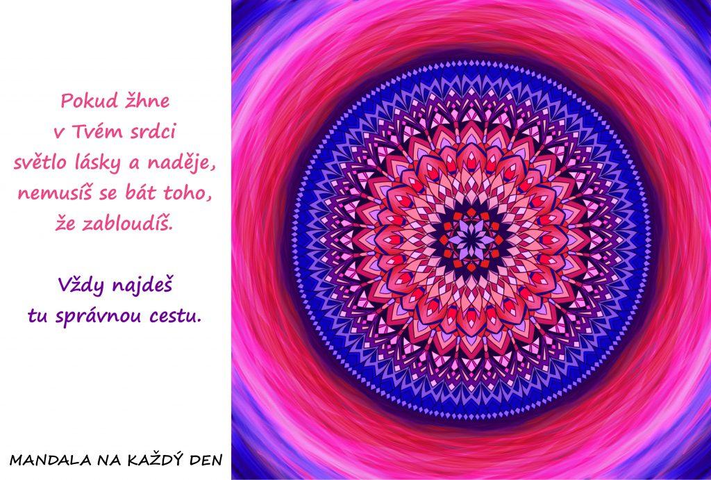 Mandala Světlo lásky a naděje