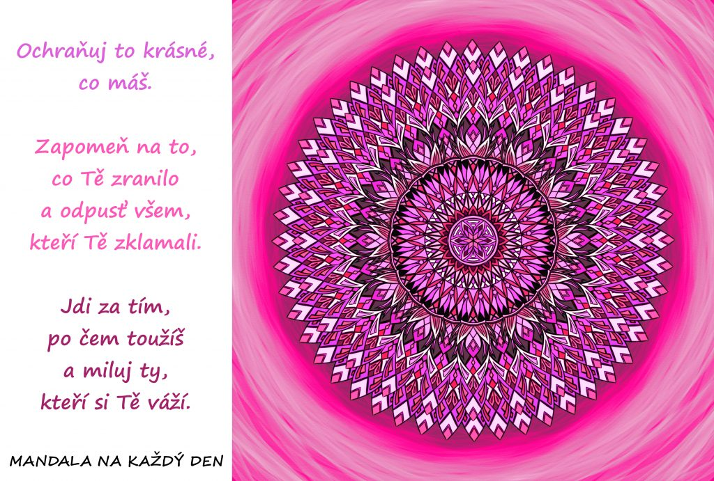 Mandala Ochraňuj to krásné, co máš