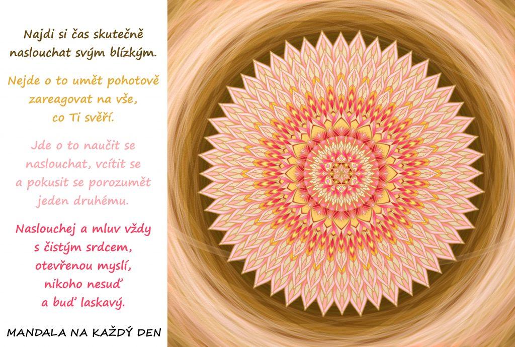 Mandala Buď tu pro druhé