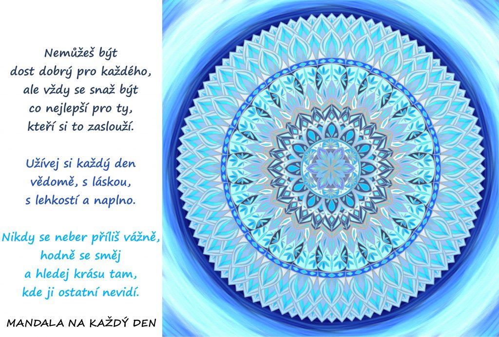 Mandala Žij s láskou, s lehkostí a naplno