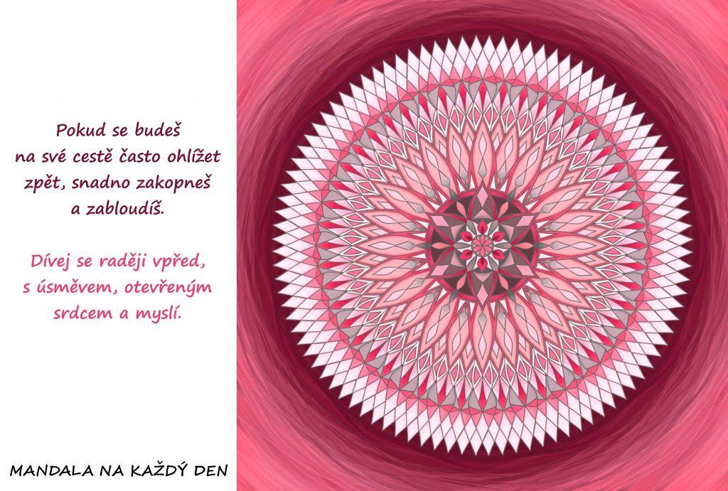 Mandala Dívej se vpřed s úsměvem