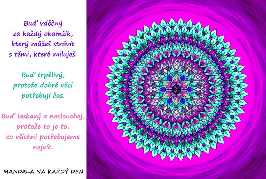 Mandala Vděčnost, trpělivost a laskavost