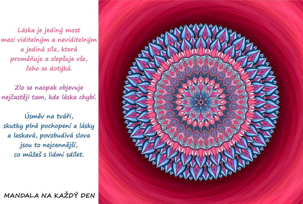 Mandala Láska vše zlepšuje a uzdravuje