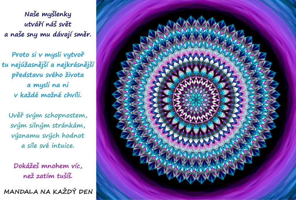 Mandala Síla myšlenek, snů a sebedůvěry
