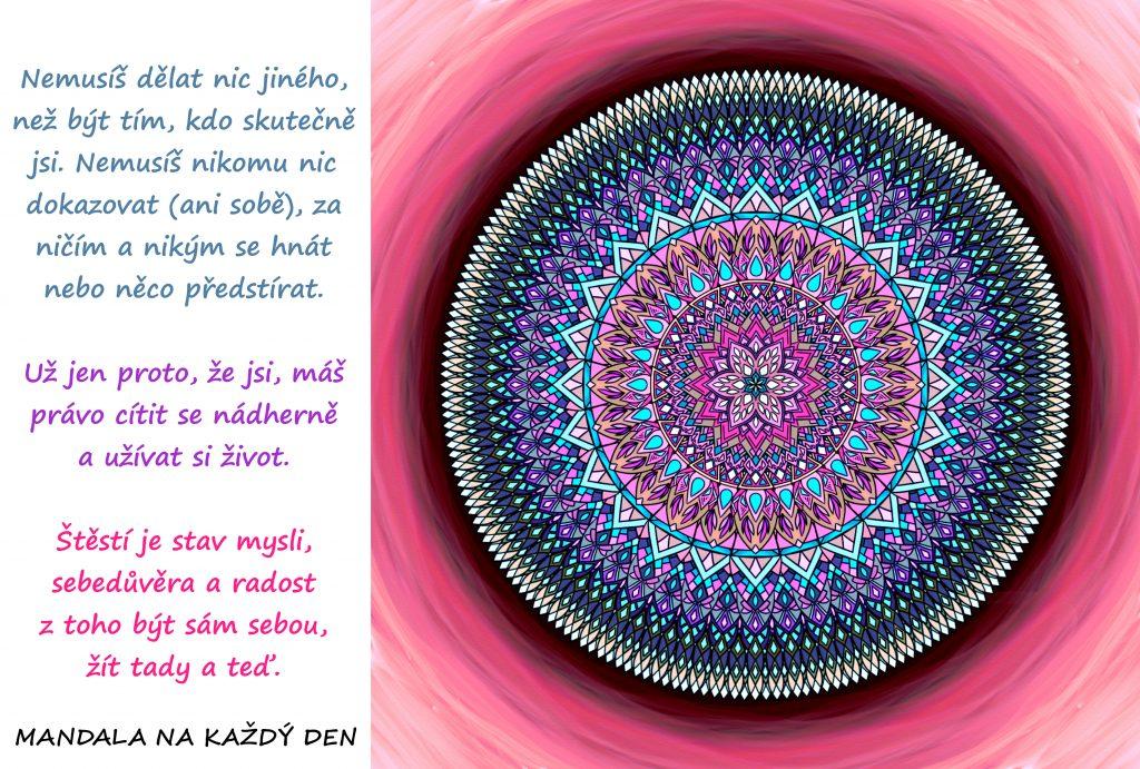 Mandala Buď sám sebou a štěstí Tě najde