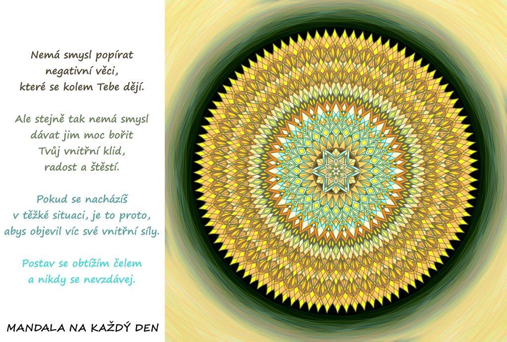 Mandala Nedej si vzít svůj vnitřní klid