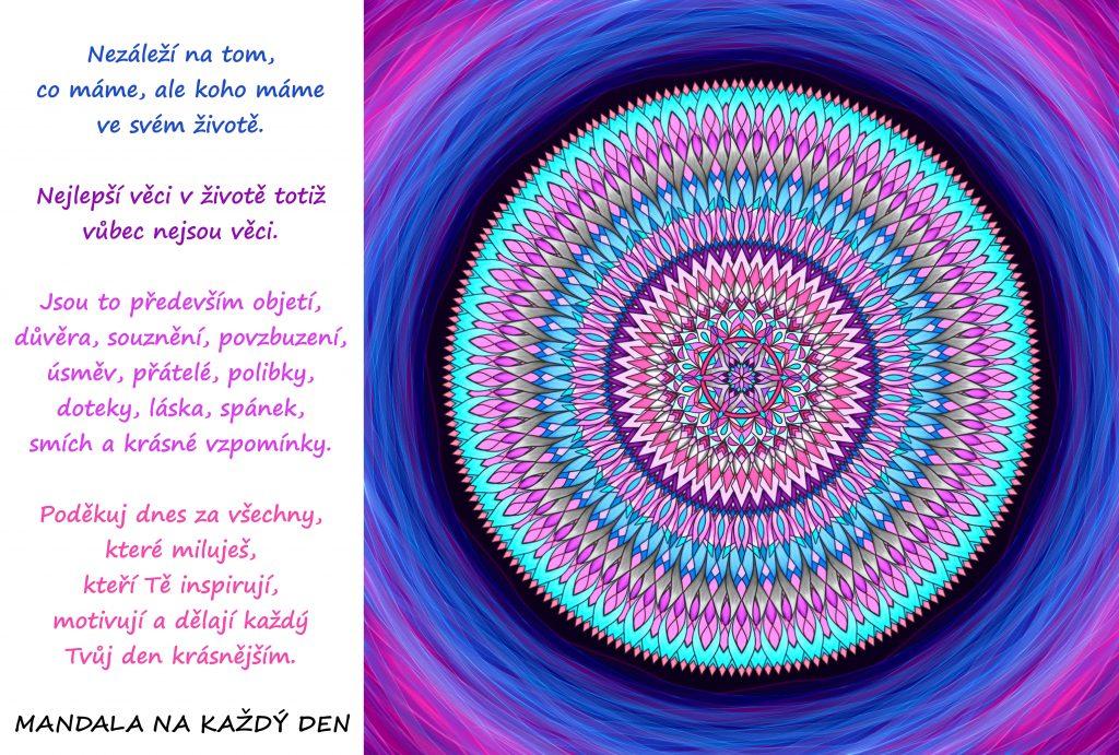 Mandala Dnes poděkuj za lásku