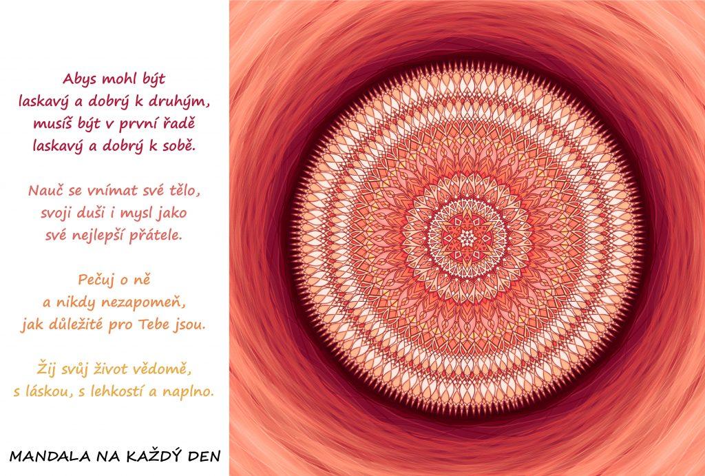 Mandala Pečuj o sebe, žij vědomě a s láskou