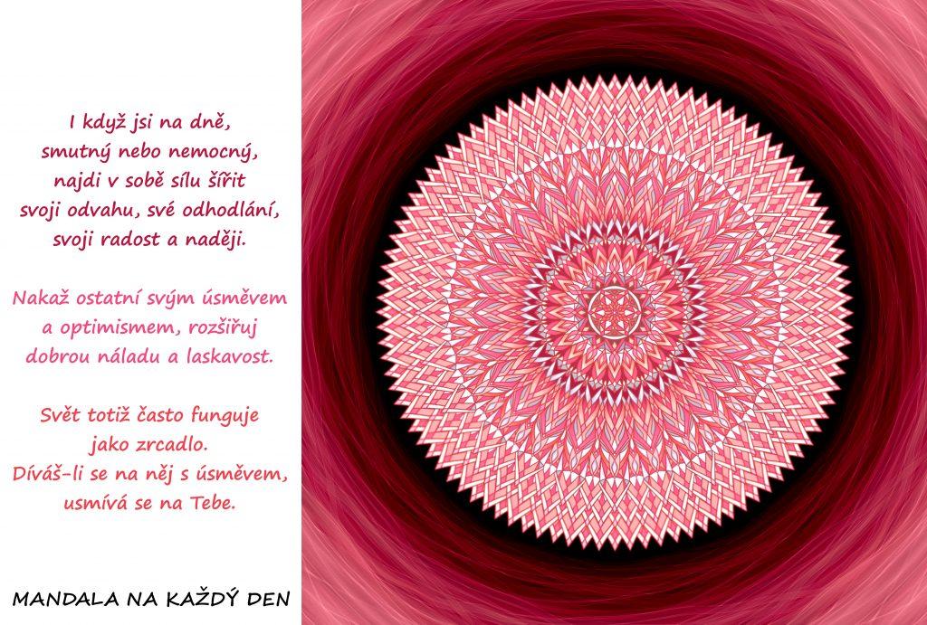 Mandala Najdi v sobě sílu šířit radost a naději