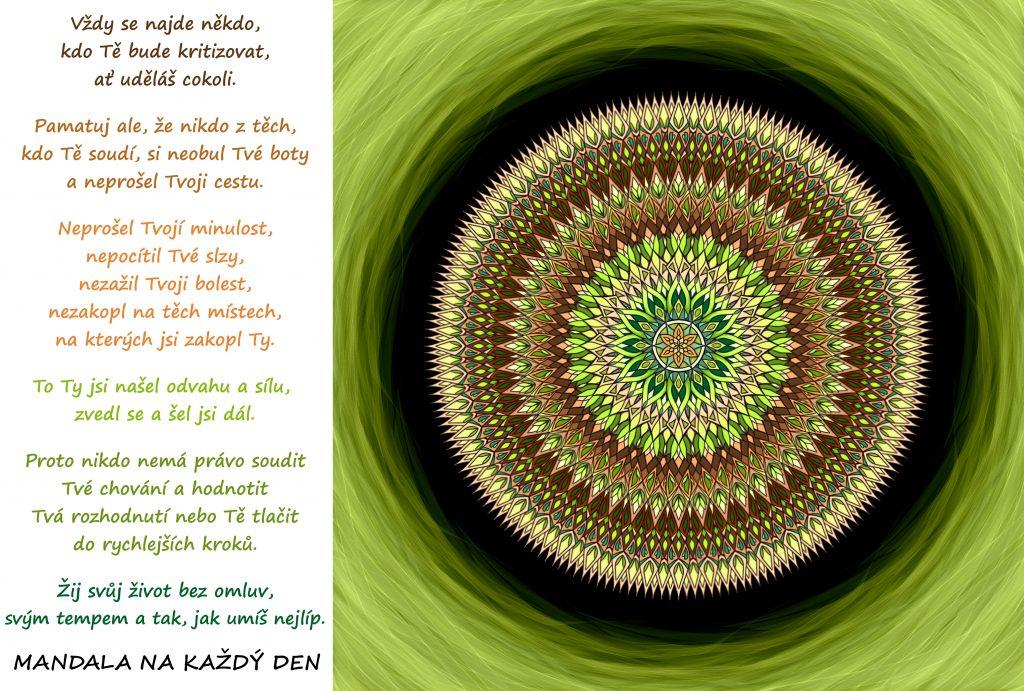 Mandala Žij svůj život svým tempem a bez omluv