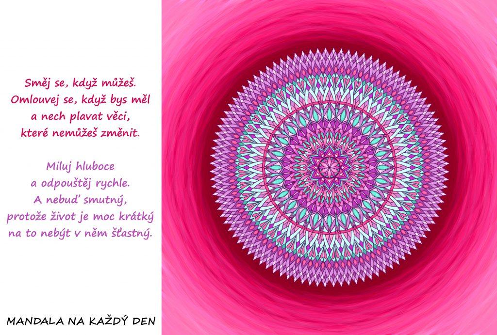 Mandala Žij s radostí a lehkostí v srdci
