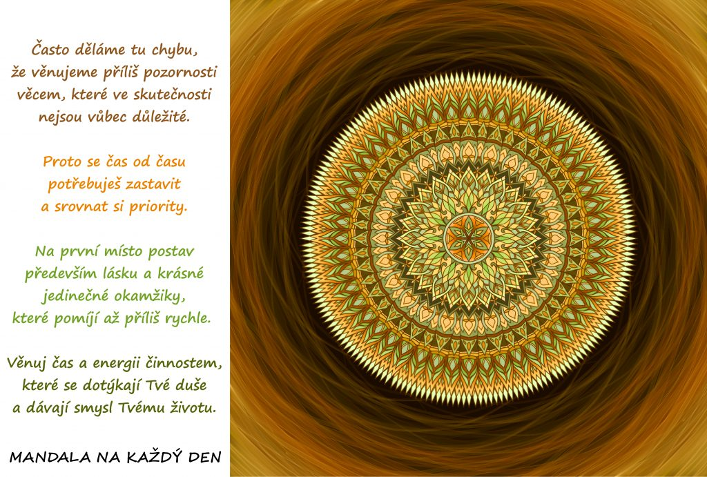 Mandala Najdi si čas na smysluplný život