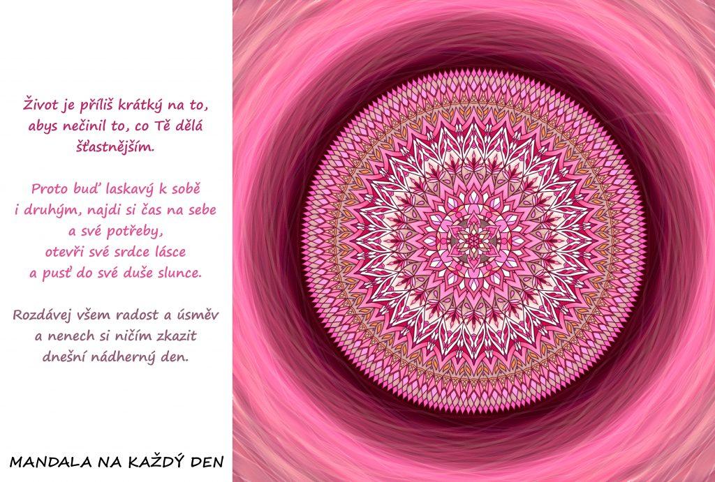 Mandala Čiň to, co Tě dělá šťastnějším