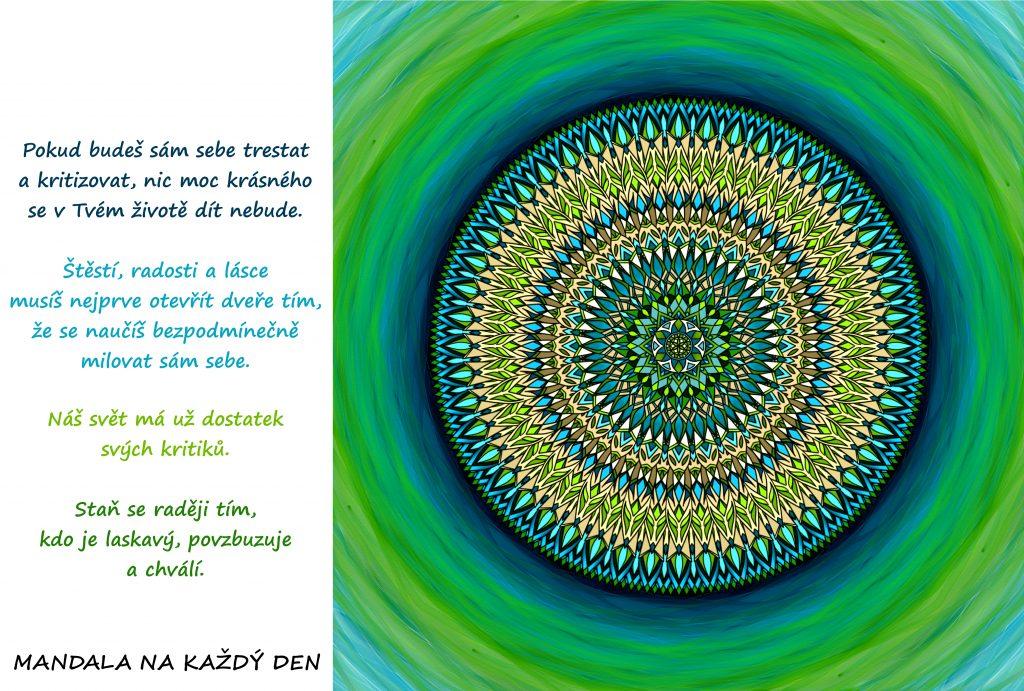 Mandala Laskavost, povzbuzení a bezpodmínečná láska
