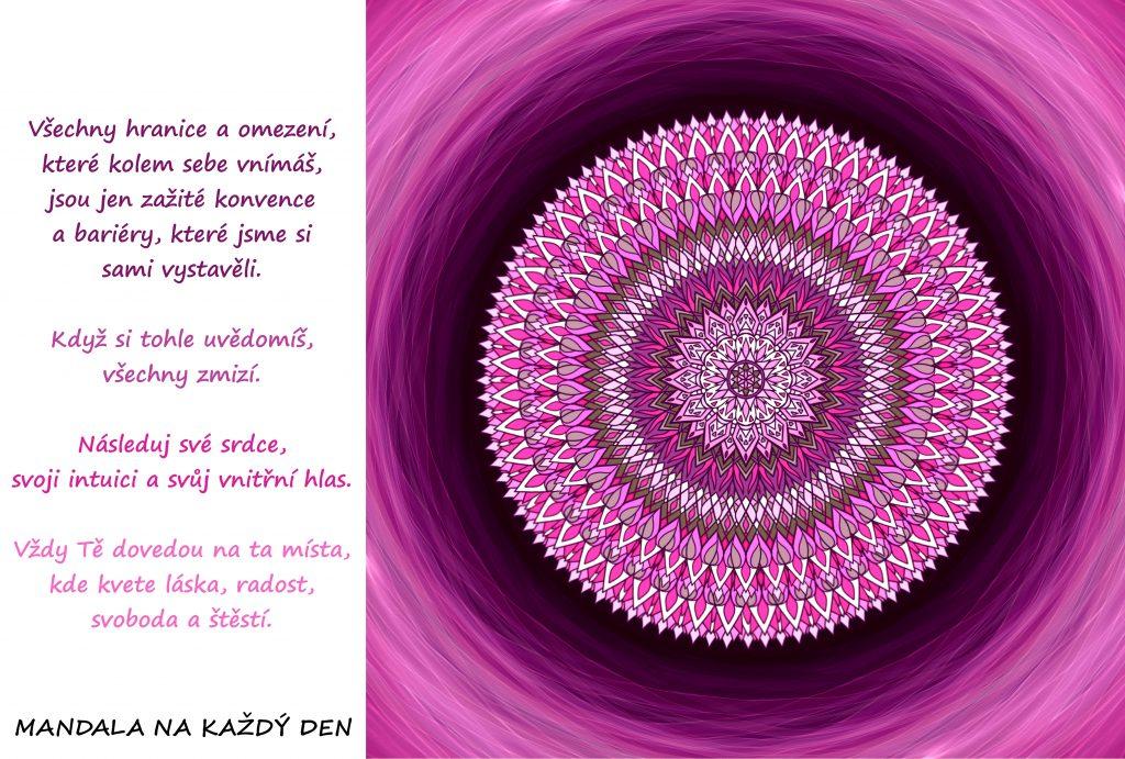 Mandala Následuj své srdce a svůj vnitřní hlas