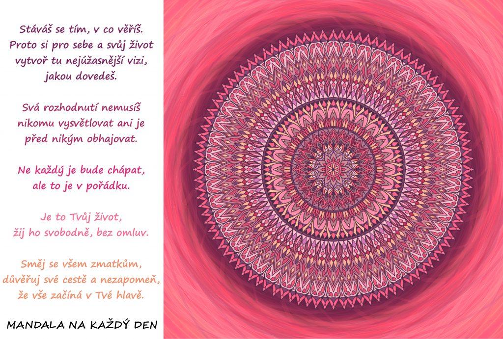 Mandala Víra, vize a rozhodnutí