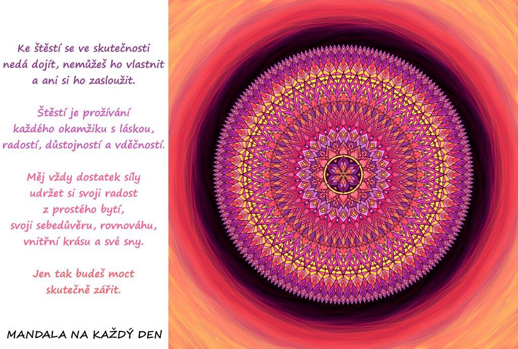 Mandala Udrž si svoji radost z prostého bytí