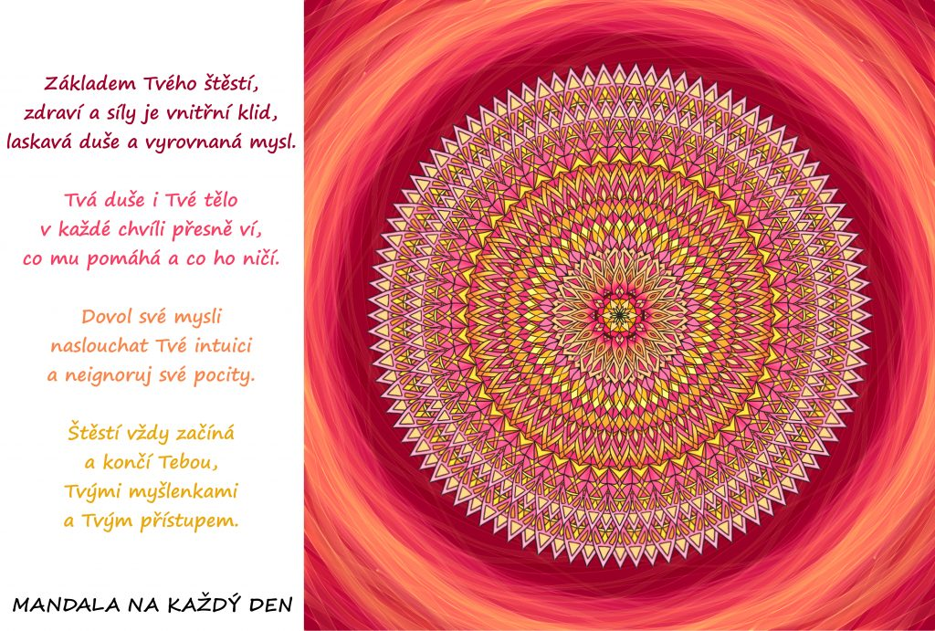 Mandala Vnitřní klid, laskavá duše a vyrovnaná mysl