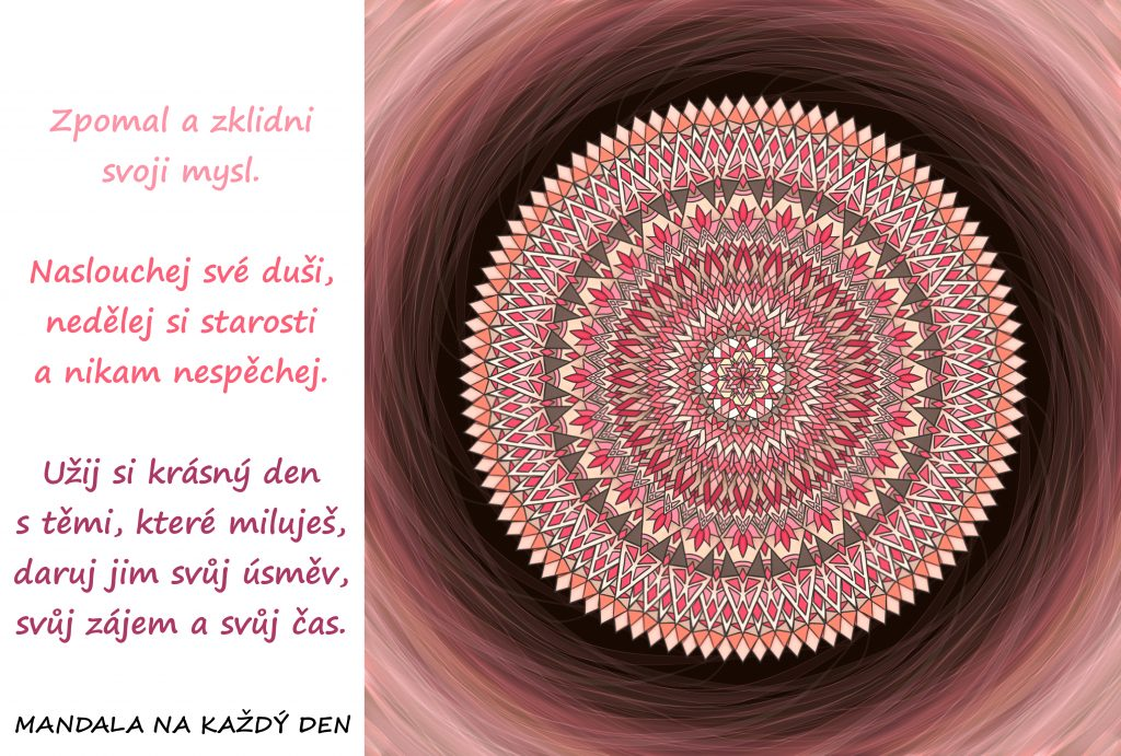 Mandala Dovol si zpomalit a zklidnit svoji mysl