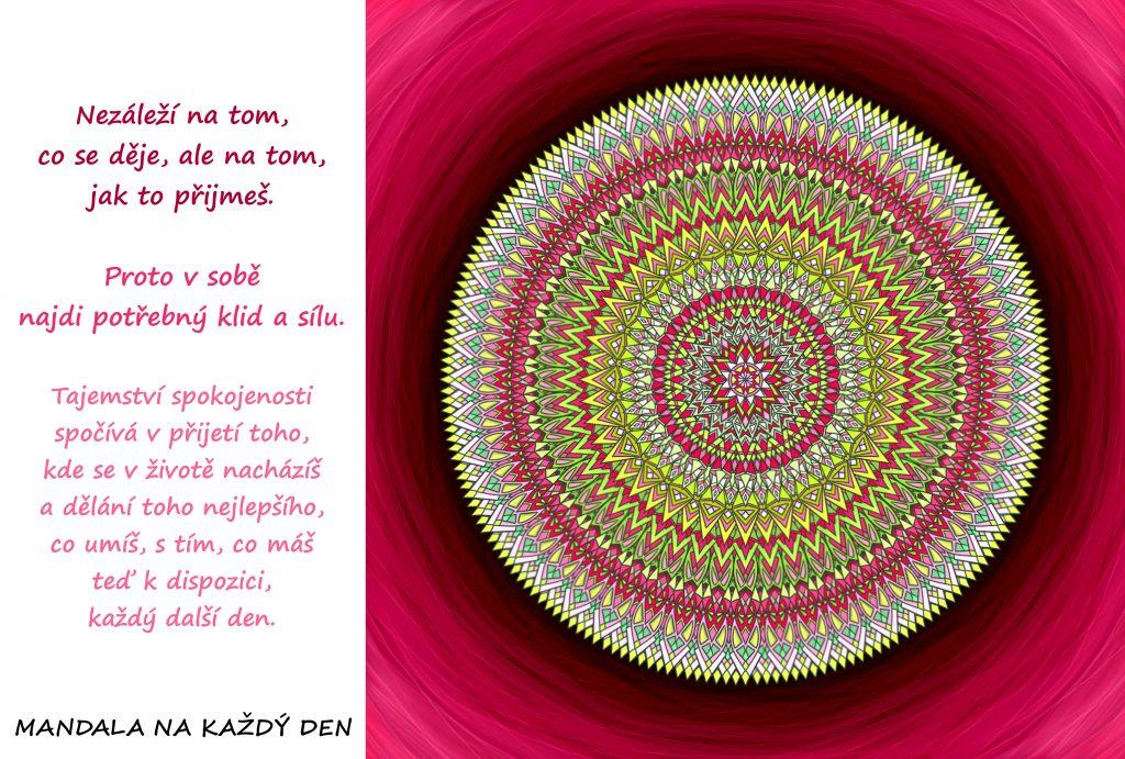 Mandala Najdi v sobě potřebný klid, sílu a spokojenost