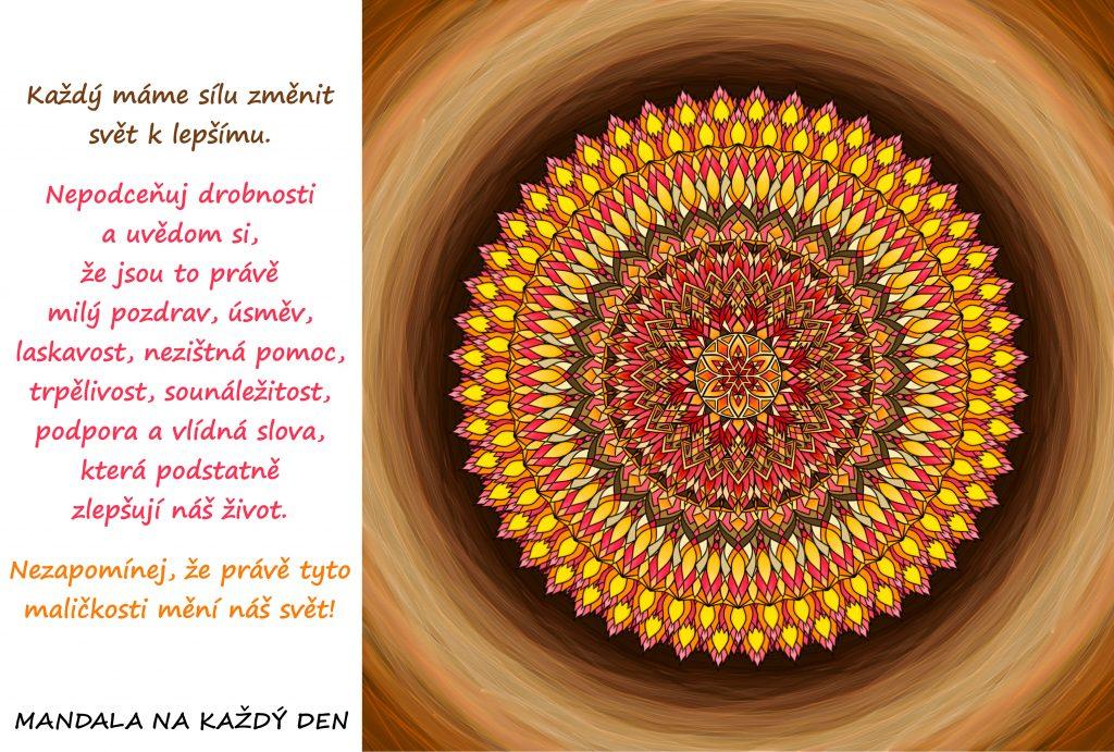 Mandala Každý máme sílu změnit svět