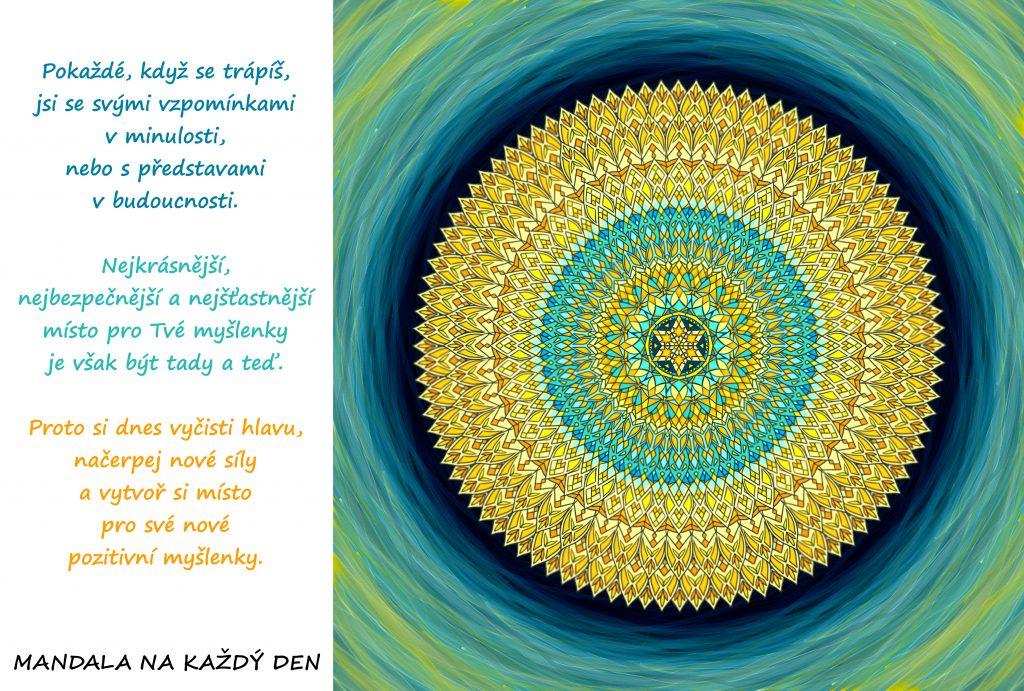 Mandala Načerpej novou sílu a mysli pozitivně