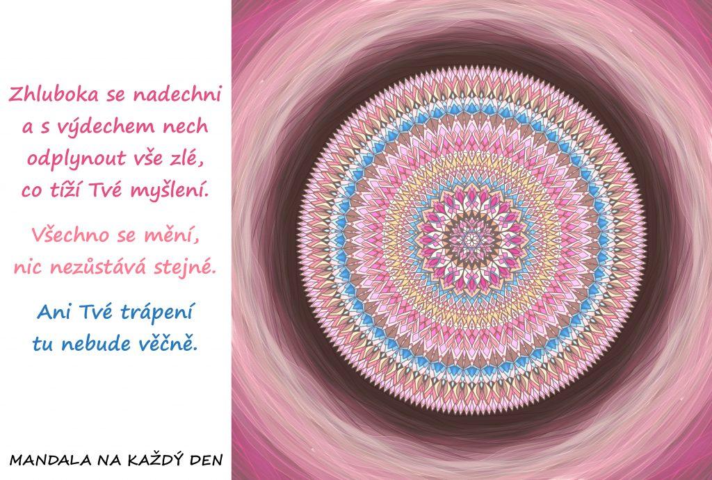 Mandala Nech vše zlé odplynout